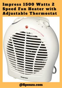 Impress 1500 Watts 2 Speed Fan Heater with Adjustable Thermostat Review