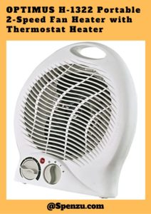 OPTIMUS H-1322 Portable 2-Speed Fan Heater with Thermostat Heater Review